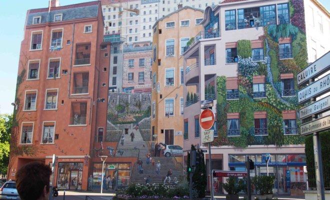 リヨンの主要な壁画・だまし絵|地図と行き方