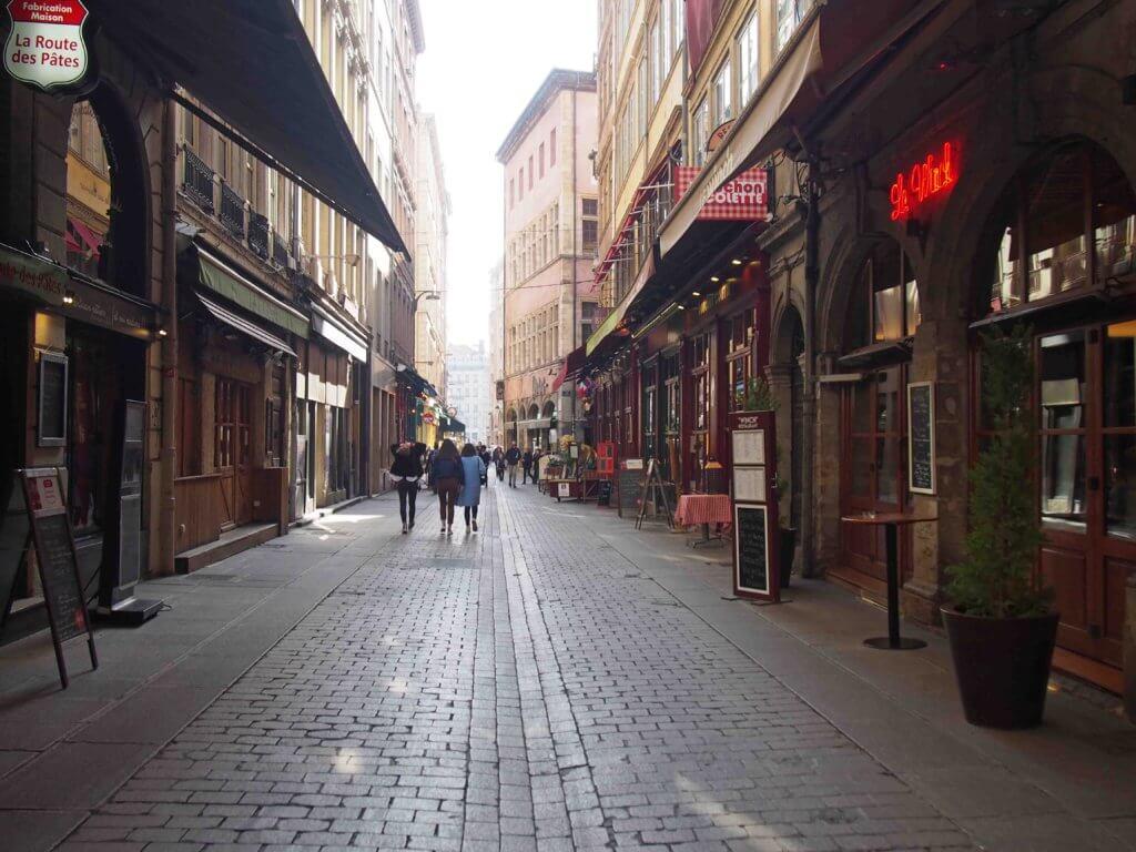 リヨンのメルシエール通り Rue Mercière