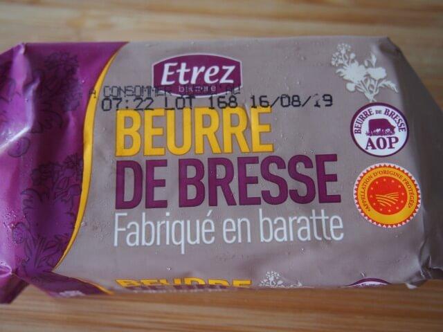 ブレス地方のバター