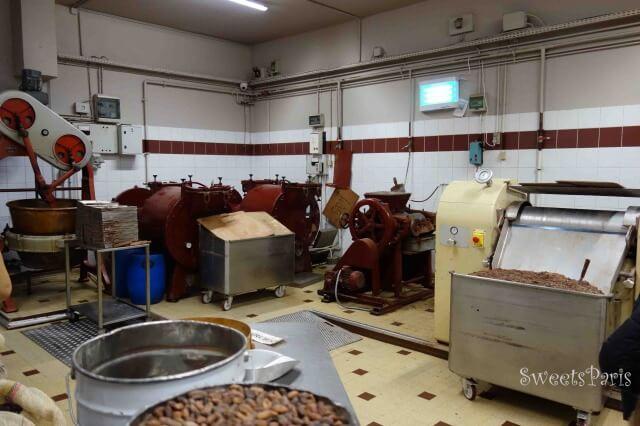 ベルナシオンのチョコレートを作る行程