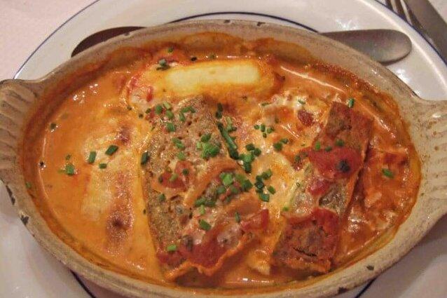リヨン料理の鶏レバーのグラタン