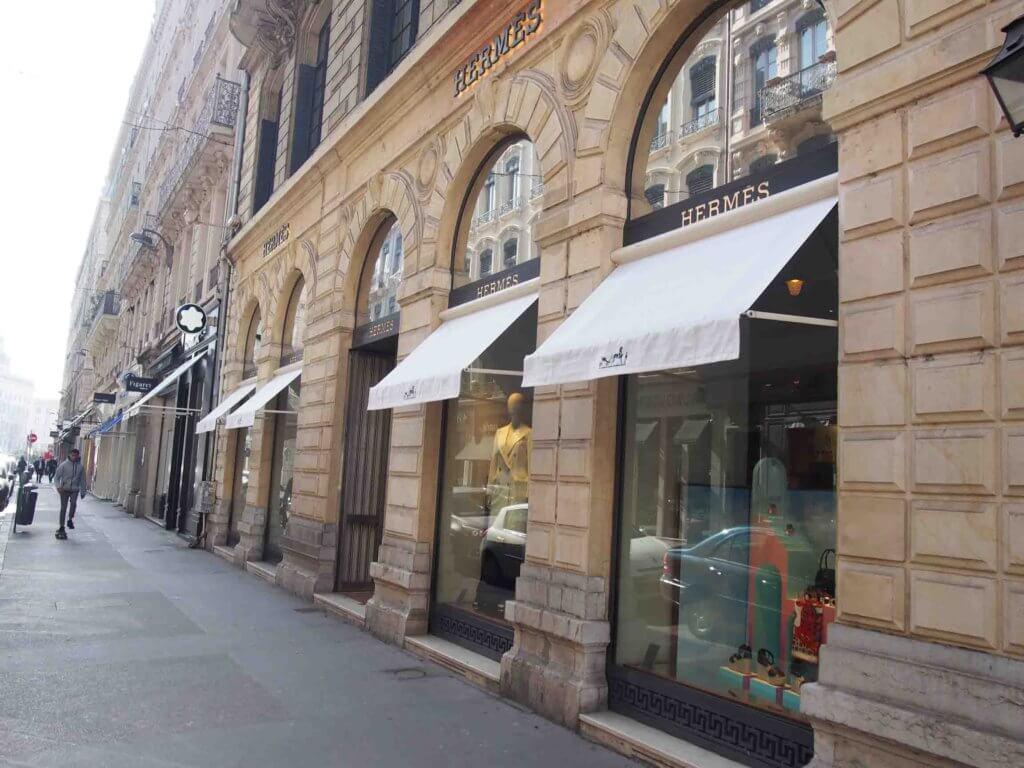 リヨンで高級ブランドショッピング・エルメス Hermès