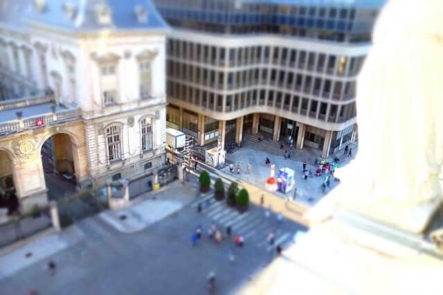 リヨンオペラ座からの眺め