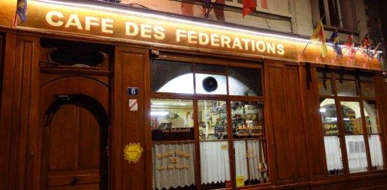テロー広場近くの伝統的ブション Café des Fédérations
